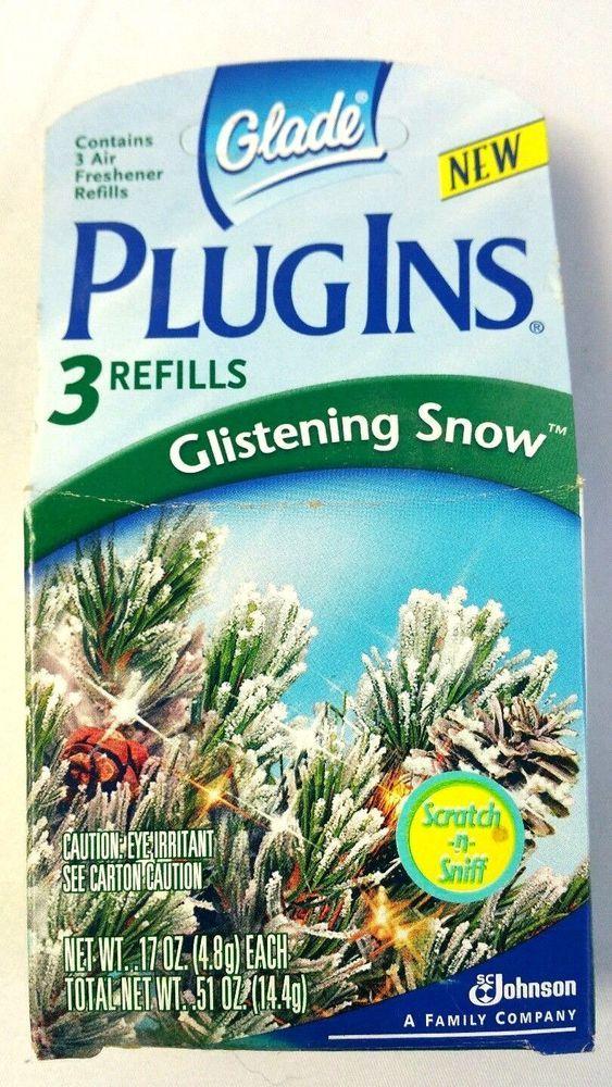 Glistening Snow Glade Plug Ins 1 Package 3 Refills PlugIns
