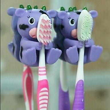 1 peças forma de animal titulares escova de dentes pendurado (cor aleatória) - BRL R$ 6,37