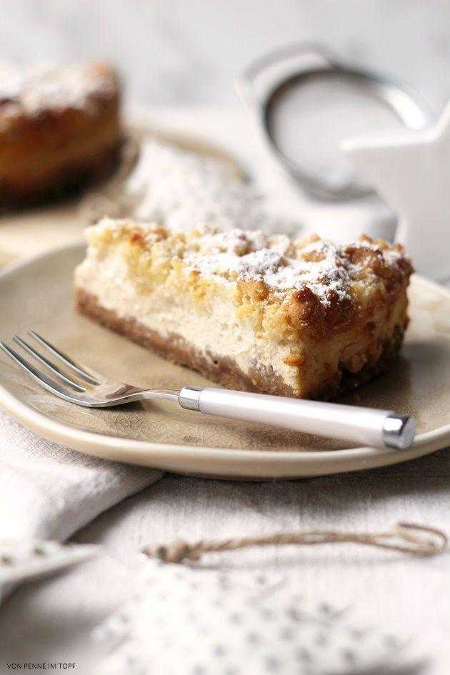 Spekulatius-Cheesecake mit Marzipanstreuseln