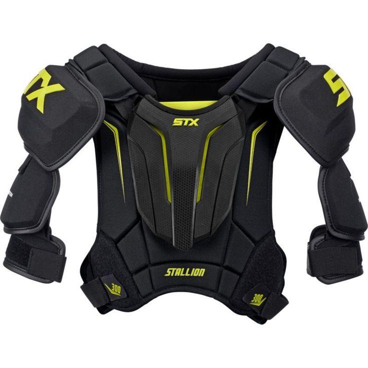 STX Stallion 300 Senior Hockey Shoulder Pads, Black