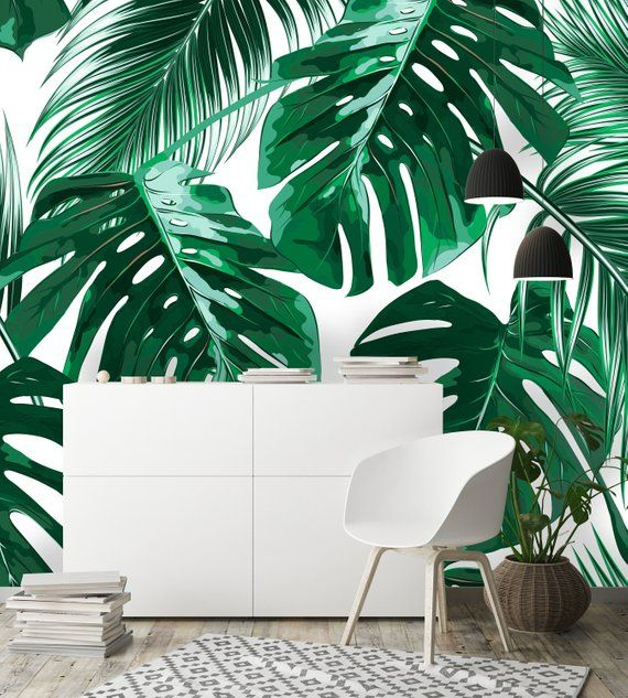 Removable Wallpaper Mural Peel & Stick Tropical Palm