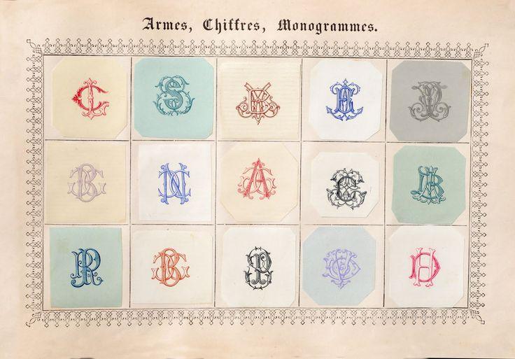 19th century french monograms