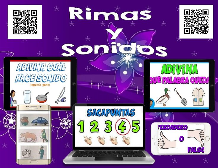 Spanish 465 QR Codes - Rimas y Sonidos, Videos de Rimas - iPad Listening Station   What are QR Codes? They are like barcodes. They can be scanned with an iPod, iPad, a smart phone, scanner for your computer, or tablet. Download a QR code scanner for FREE on the App Store. There are several free apps to choose from.   Do you have students coming up saying they can't type the address in correctly to get to the story? QR Codes are so easy for students to scan.