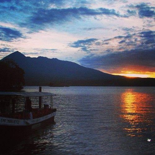 Perfect sunset over Lake Nicaragua - taken from Jicaro Island Eco-Lodge