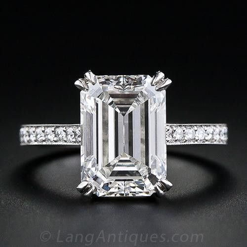 The Cut Of Diamond That Is Totally Trending Right Now - Emerald Cut engagement ring in white gold