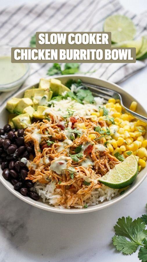 Chicken Burrito Bowl, Chicken Burritos, Salsa Chicken, Chicken Enchilada Casserole, Grilled Chicken, Slow Cooker Recipes, Crockpot Recipes, Chicken Recipes, Recipe Chicken