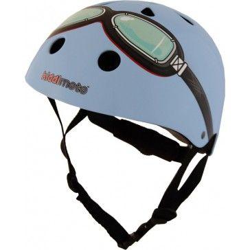 Kiddimoto Helmet Blue Goggle Small