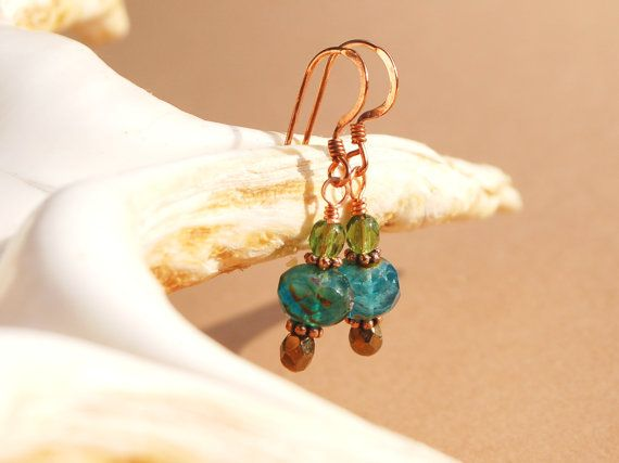 Lagoon earrings by MixNBeads on Etsy, $4.00