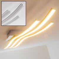 LED Design Wohn Zimmer Leuchten Deckenlampe Chrom Decken Lampen Flur Strahler