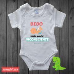 body para bebé personalizado bebo hasta quedar inconsciente