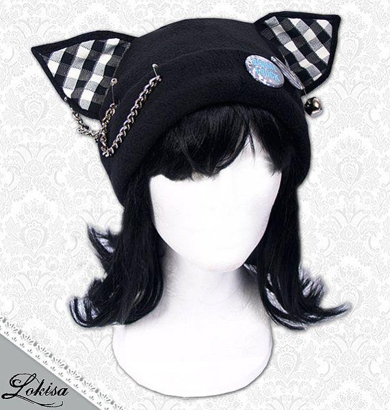 Cat Kitty Fleece Hat Anime Cosplay Punk JRock by LokisaFashion