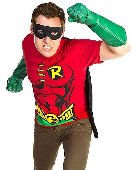 Batman Robin Costume Kit - Finish off your costume just like youu0027ll finish off the bad guys when you wear this officially licensed Batman Robin Costume Kit.  sc 1 st  Pinterest & 13 best Robin Costume Inspiration images on Pinterest | Robin ...