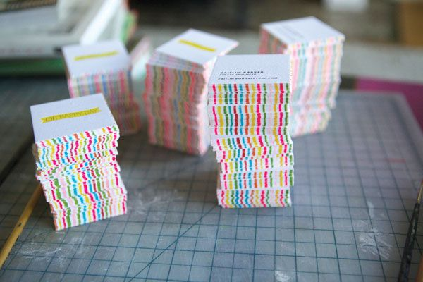 Edge painted cards in a spring palette. #design #print