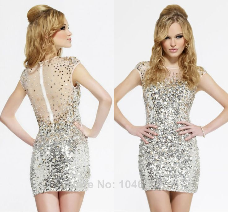 2015 Sexy Hot Sparky  Sleeveless Sequined Sneeth  Mini-Length Short  Party Sheath Cocktail Dresses $149.00