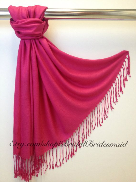 Wedding Season SALE  Hot Pink PASHMINA  pink by BridalBridesmaid, $9.00