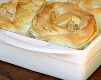 Chicken Pie with Phyllo Pastry Roses