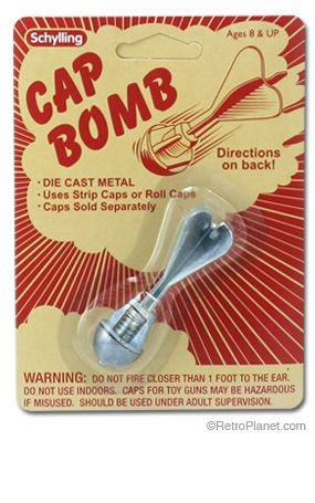 Cap Bomb...exactly the kind i used. it was this or a rock