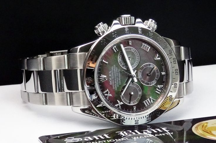 Rolex 116520 Daytona red dial | Swiss Watches ROLEX - DAYTONA Stainless Steel Tahitian MOP Dial ...