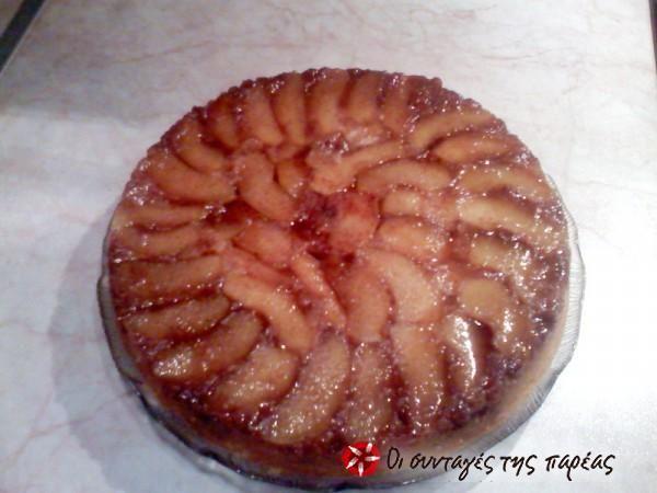 Κέικ μήλου (αναποδογυρισμένο) #sintagespareas