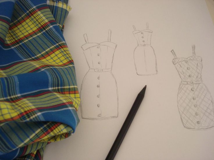 My summer dress designe, inspired by 40's &50's style.