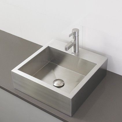 Check Out The Decolav Crofton Rectangular Stainless Steel Above Counter  Vessel With Single Hole Deck