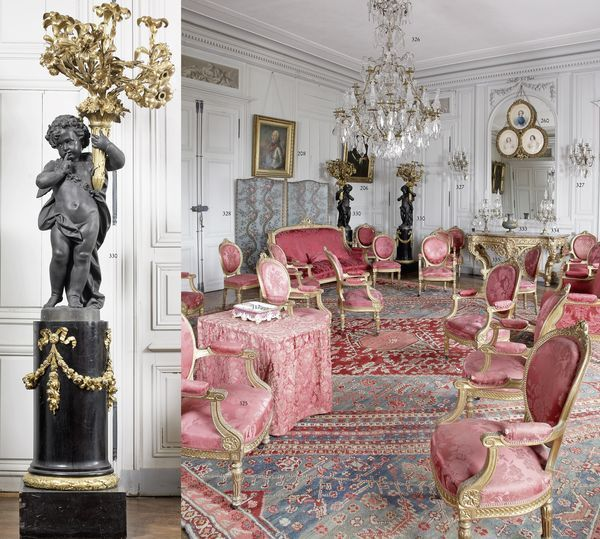 Salon in a french chateau
