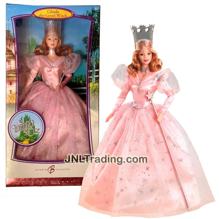 Mattel Year 2006 Barbie Pink Label The Wizard of Oz Series 12 Inch Doll - GLINDA the Good Witch with Crown, Magic Wand, Collector Card and Doll Stand