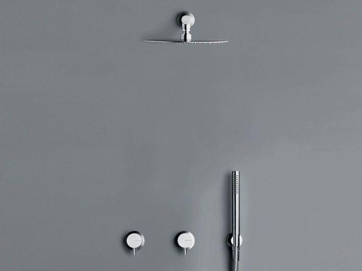 COCOON MONO SET20 1885 euro Set doccia completo di soffione a pioggia rotondo montato a parete o a soffitto (25 cm), due miscelatori indipendenti a parete e set doccetta DB1.