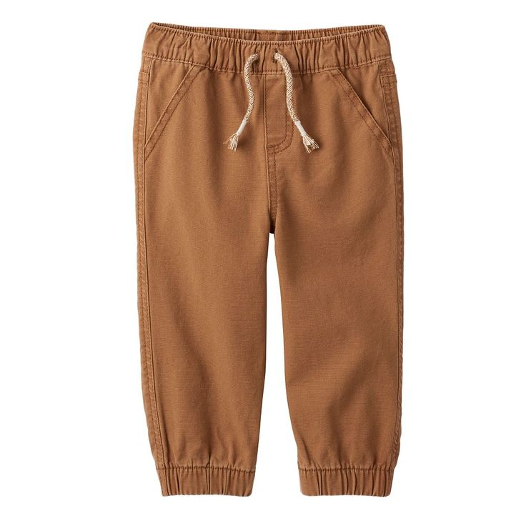 Baby Boy Jumping Beans® Cuffed Jogger Pants, Size: 12 Months, Brown