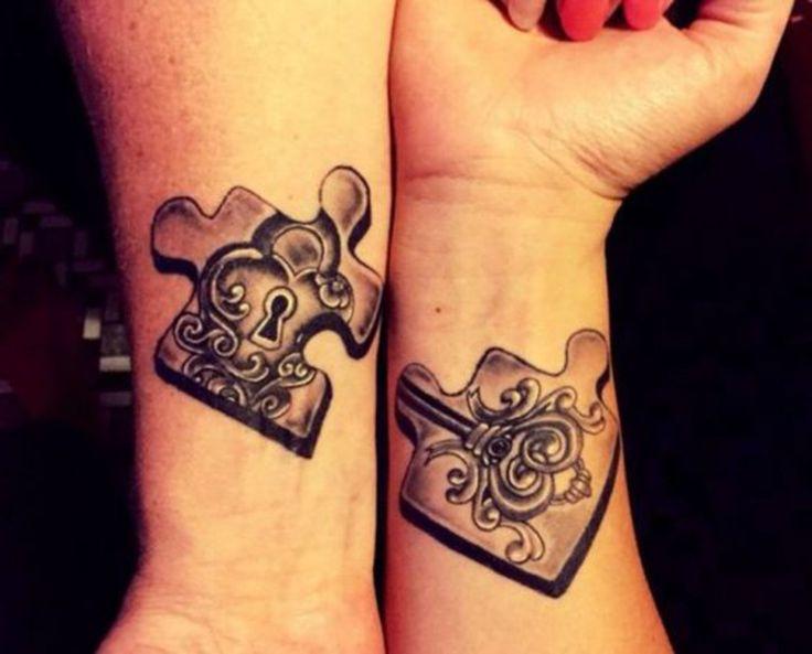 m s de 25 ideas incre bles sobre tatuajes complementarios en pinterest tatuaje de pareja. Black Bedroom Furniture Sets. Home Design Ideas