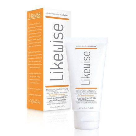 Likewise Normal to Oily Moisturizing Defense – this product reduces your risk of skin cancer and is formulated to control blemishes and oil production. And like all our products, its great at reducing redness if you've got rosacea! #skincare #moisturize