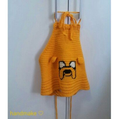 Crop - top Jake #handmake #handmakeclothes #croptop #summer #beachwear #yellow #jake #jakethedog #adventuretime #forewoman #cotton #style #fashion #etsy #handmade #crochet #instacrochet #топ #желтый #времяприключений #джейк #лето #пляжнаямода #длянее #хлопок #ручнаяработа