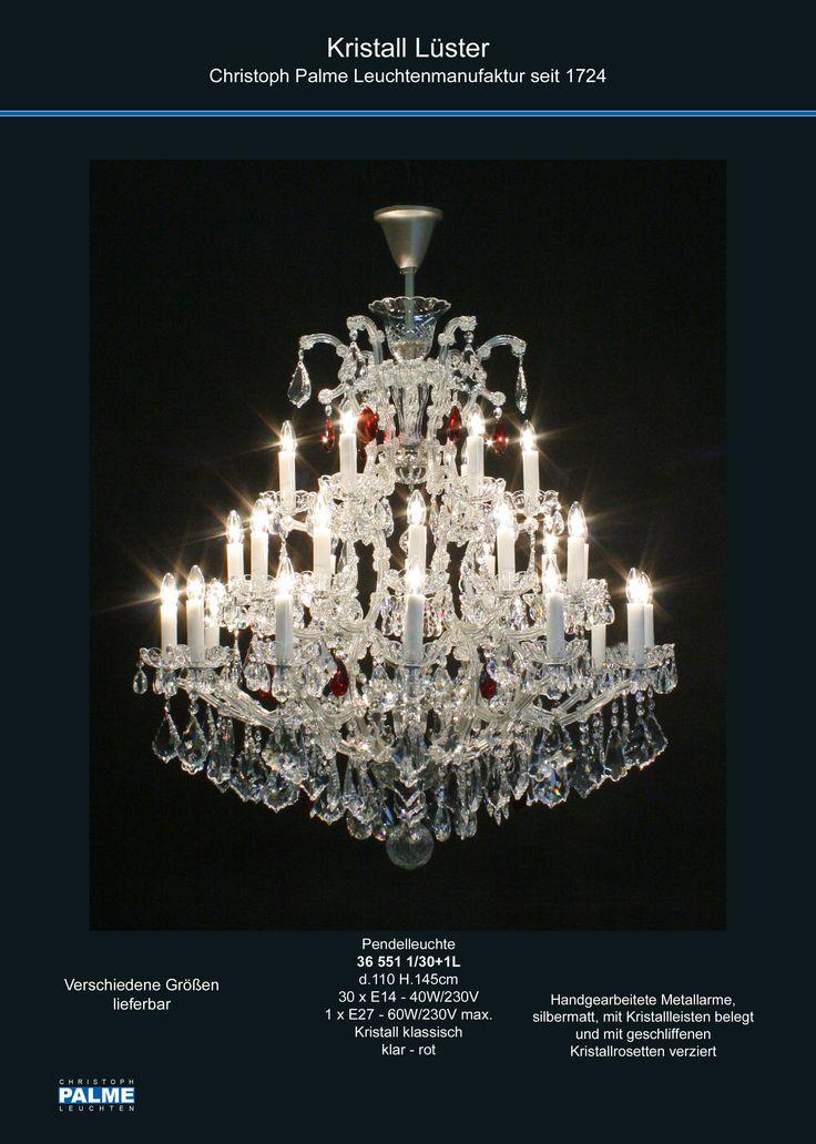 CHRISTOPH PALME Leuchtenmanufaktur seit 1724 www.palme-leuchten.de  chandelier kristaller Kristalleuchte
