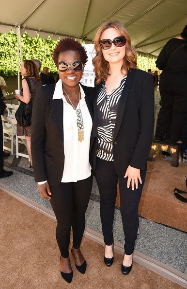 Emily Deschanel Photos Photos - (L-R) Actresses Viola Davis and Emily Deschanel attend The Rape Foundation's groundbreaking ceremony for construction of a New Stuart House for sexually abused children on May 2, 2014 in Santa Monica, California. - The Rape Foundation's Groundbreaking Ceremony