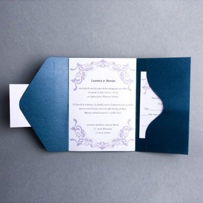 21 best Faire part mariage bleu images on Pinterest