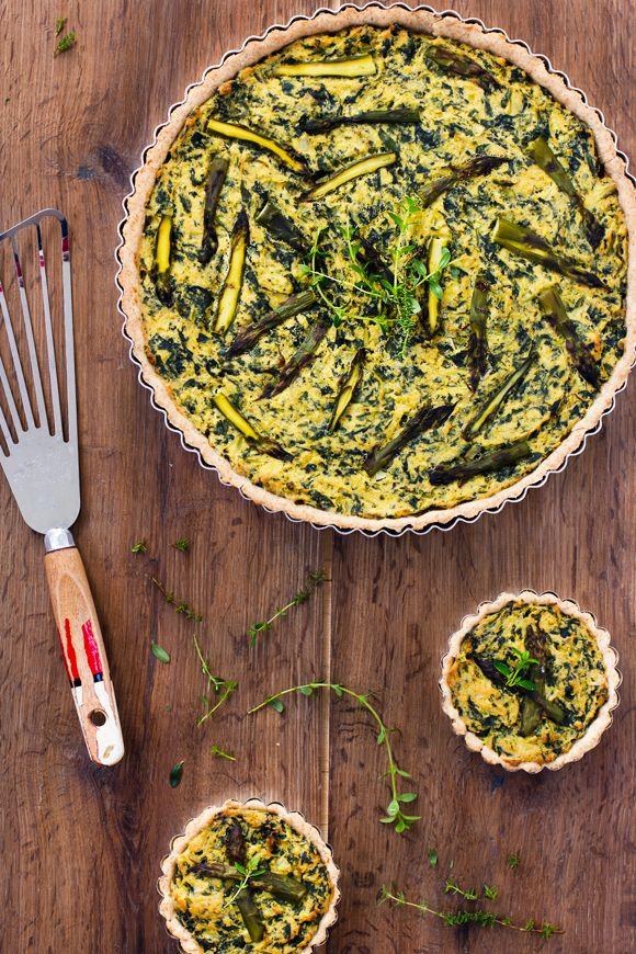 giroVegando in cucina: Torta di farro con bietoline e asparagi