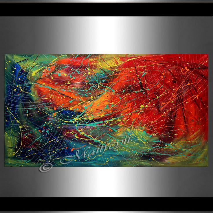 Original abstract art Jackson Pollock style drip painting, Contemporary art wall decor Hand made abstract