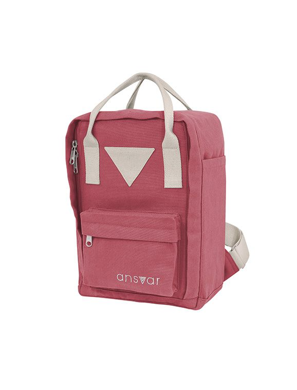 Ekologisk Ryggsäck Barn Mini Backpack Ansvar IV - 8 Liter, Vintage Red