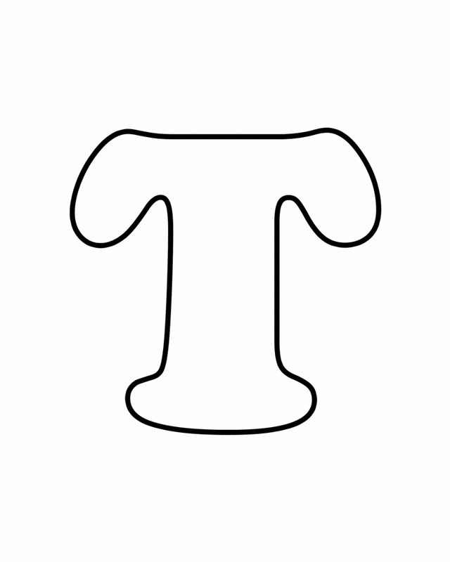 Letter T - Free Printable Coloring Pages