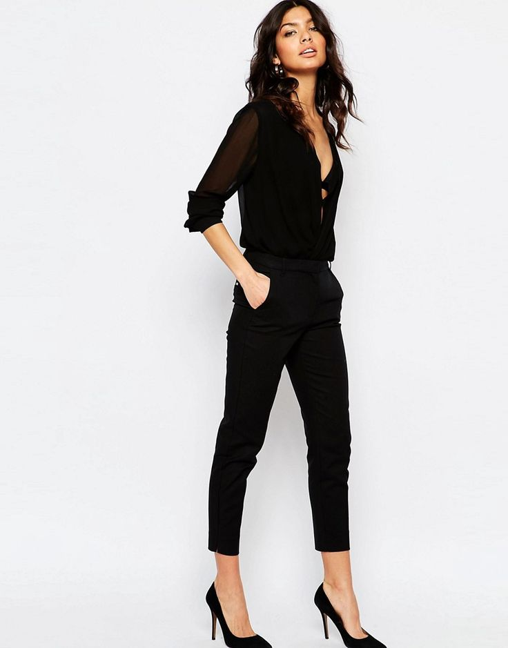 Image 1 of River Island Cigarette Pant More