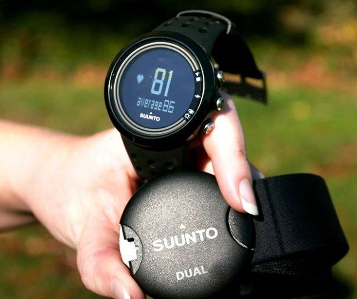 "Want to customize your training program?  Get complete analysis of your calorie consumption and workout intensity with ""Suunto M5"""