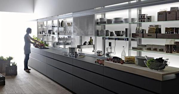 This is an advanced kitchen furniture comes from Valcucine. Logica Kitchen is a functional kitchen furniture idea that can change all activities in the kitchen become more easier. Keeping all goods stay neat so you still have spirit and good mood to all activity in the kitchen.
