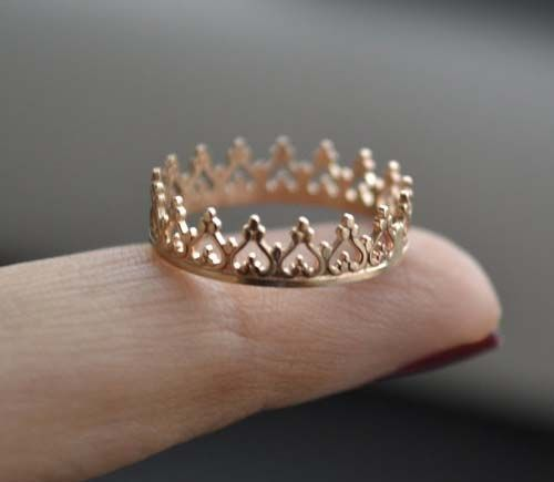 Crown Ring $134.94: Fashion, Rings Fingers, Gold Crowns, A Little Princesses, Queen Of Heart, Gold Rings, Jewelry, Princesses Crowns Rings, Engagement Rings