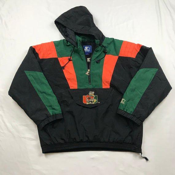 Vintage 90s 90s Vintage Miami Hurricanes Starter Jacket Etsy In 2020 Miami Hurricanes Chicago Cubs Jacket Jean Jacket Men