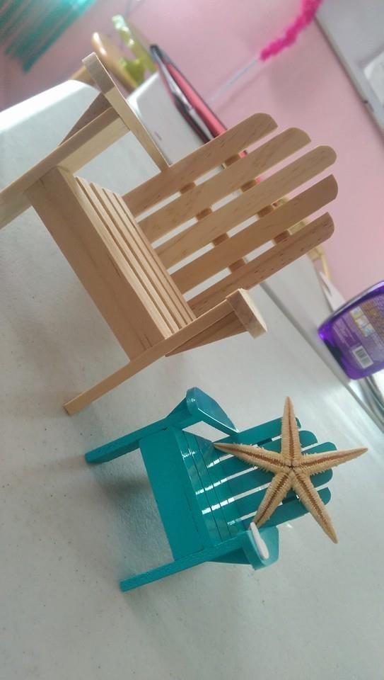 Sillas en miniatura que se pueden hacer con palitos de - Como se elabora una silla de madera ...