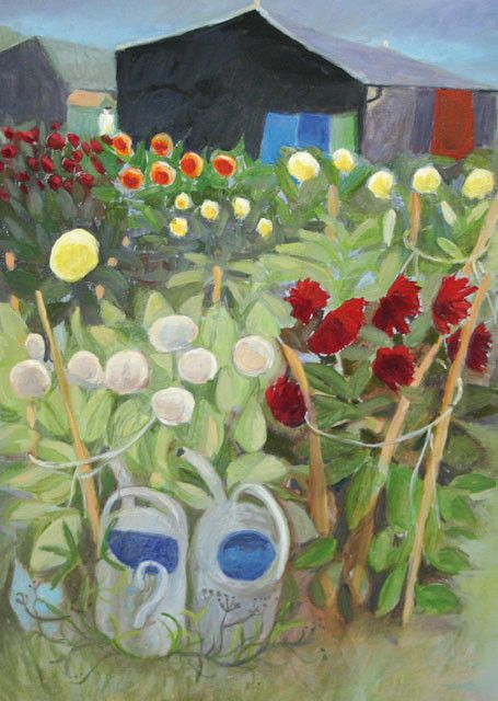 'He Had Grown A Sea Of Dahlias' By Painter, Tessa Newcomb. Blank Art Cards By Green Pebble. www.greenpebble.co.uk