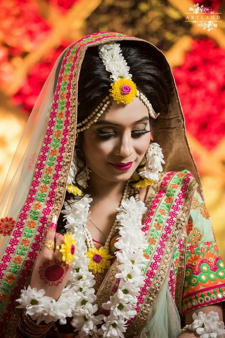Pin by Pam on Haldi Jewellery Wedding flower jewelry
