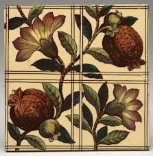 Pomegranate tile, Minton & Co, c1865
