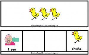 Easter Sentence Builders - Chicks