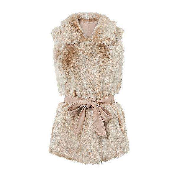 Meribel Shearling Gilet ($1,200) ❤ liked on Polyvore featuring outerwear, vests, reversible vest, pink vest, shearling vest and ski vest